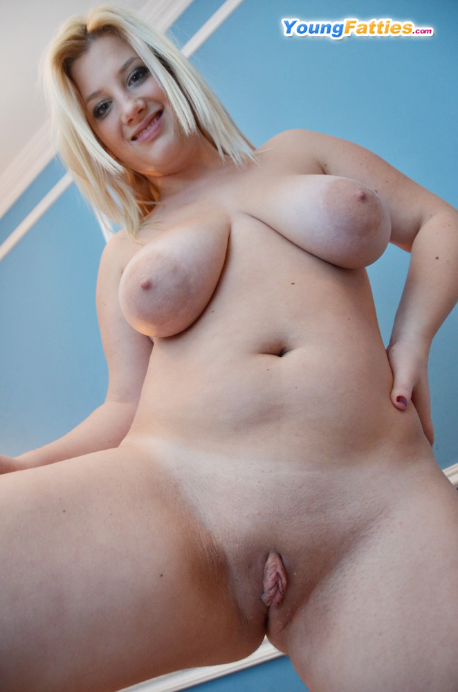 Chubby Hairy Blonde Teen